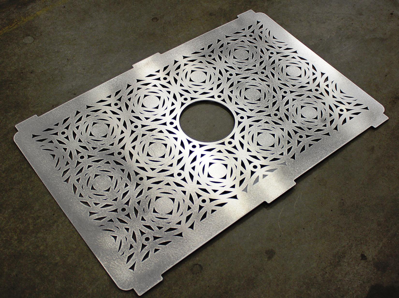 Laser Cut Panel Designed